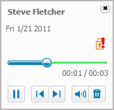 Voicemail playback
